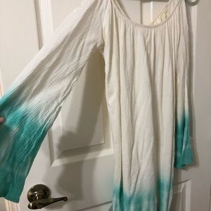 Flare Sleeve Ombre Dress